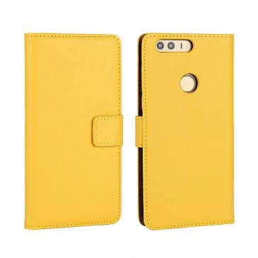 Huawei Honor 8 Kotelo Keltainen Nahka