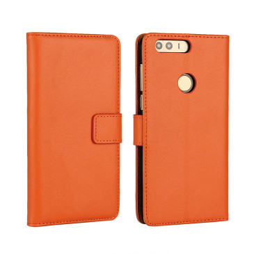 Huawei Honor 8 Kotelo Oranssi Nahka
