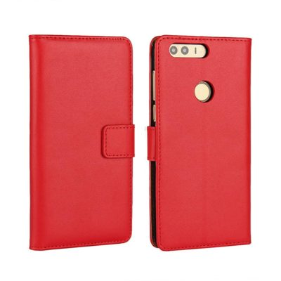 Huawei Honor 8 Kotelo Punainen Nahka