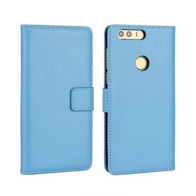 Huawei Honor 8 Kotelo Sininen Nahka
