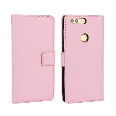 Huawei Honor 8 Kotelo Vaaleanpunainen Nahka
