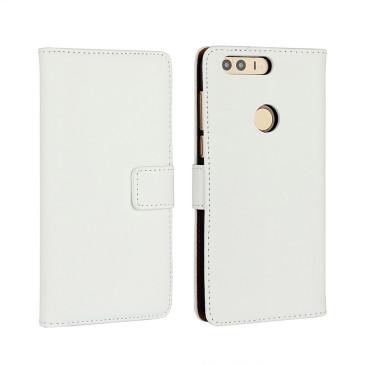 Huawei Honor 8 Kotelo Valkoinen Nahka