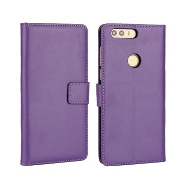 Huawei Honor 8 Kotelo Violetti Nahka
