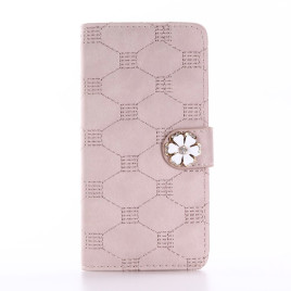 Apple iPhone 7 / 8 Kotelo Timantti Kukka Ruusukulta
