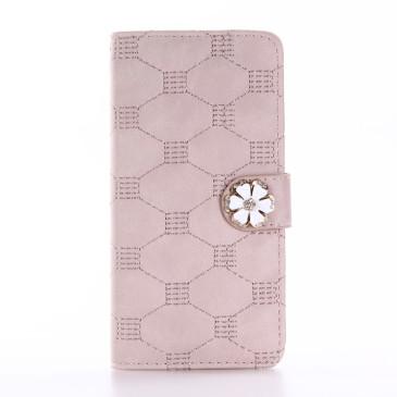 Apple iPhone 7 Kotelo Timantti Kukka Ruusukulta