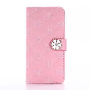Apple iPhone 7 / 8 Kotelo Timantti Kukka Vaaleanpunainen