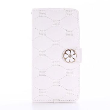 Apple iPhone 7 Kotelo Timantti Kukka Valkoinen