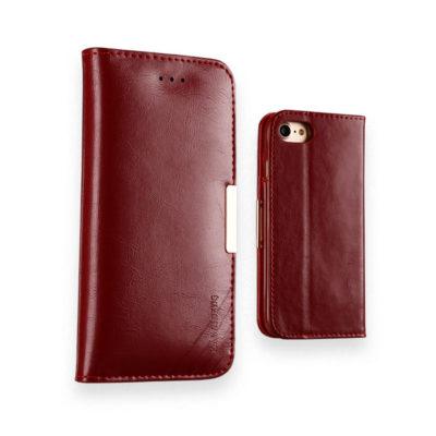 Apple iPhone 7 / 8 Nahkakotelo KLD Royale II Punainen