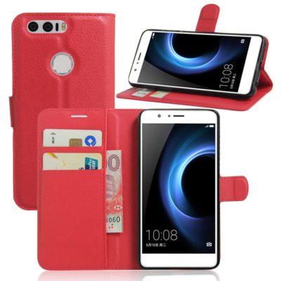 Huawei Honor 8 Suojakotelo Punainen Lompakko
