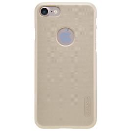 Apple iPhone 7 Kuori Nillkin Frosted Kulta ja Suojakalvo