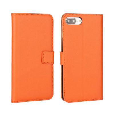Apple iPhone 7 / 8 Plus Nahkakotelo Oranssi