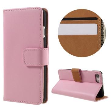 Apple iPhone 7 Suojakotelo Nahka Vaaleanpunainen