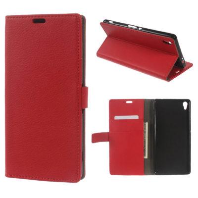 Sony Xperia XA Ultra Suojakotelo Punainen Lompakko