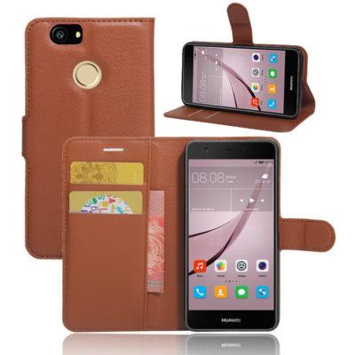 Huawei Nova Kotelo Ruskea Lompakko