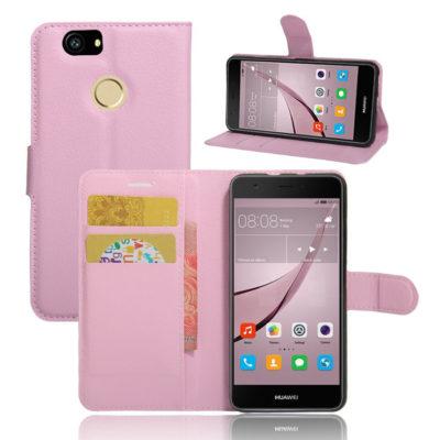 Huawei Nova Kotelo Vaaleanpunainen Lompakko