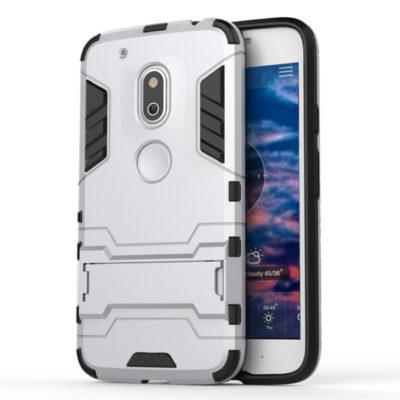 Motorola Moto G4 Play Suojakuori 2-osainen Hopea