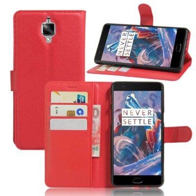 OnePlus 3 / 3T Lompakkokotelo Punainen