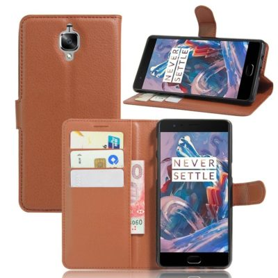 OnePlus 3 / 3T Lompakkokotelo Ruskea