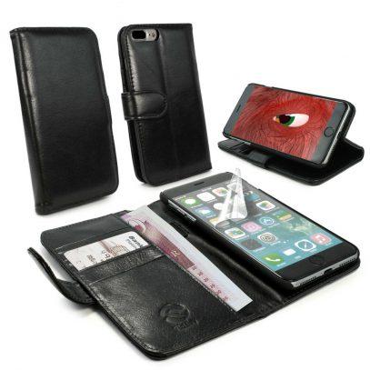 Apple iPhone 7 Plus Nahkakotelo Tuff-Luv Musta