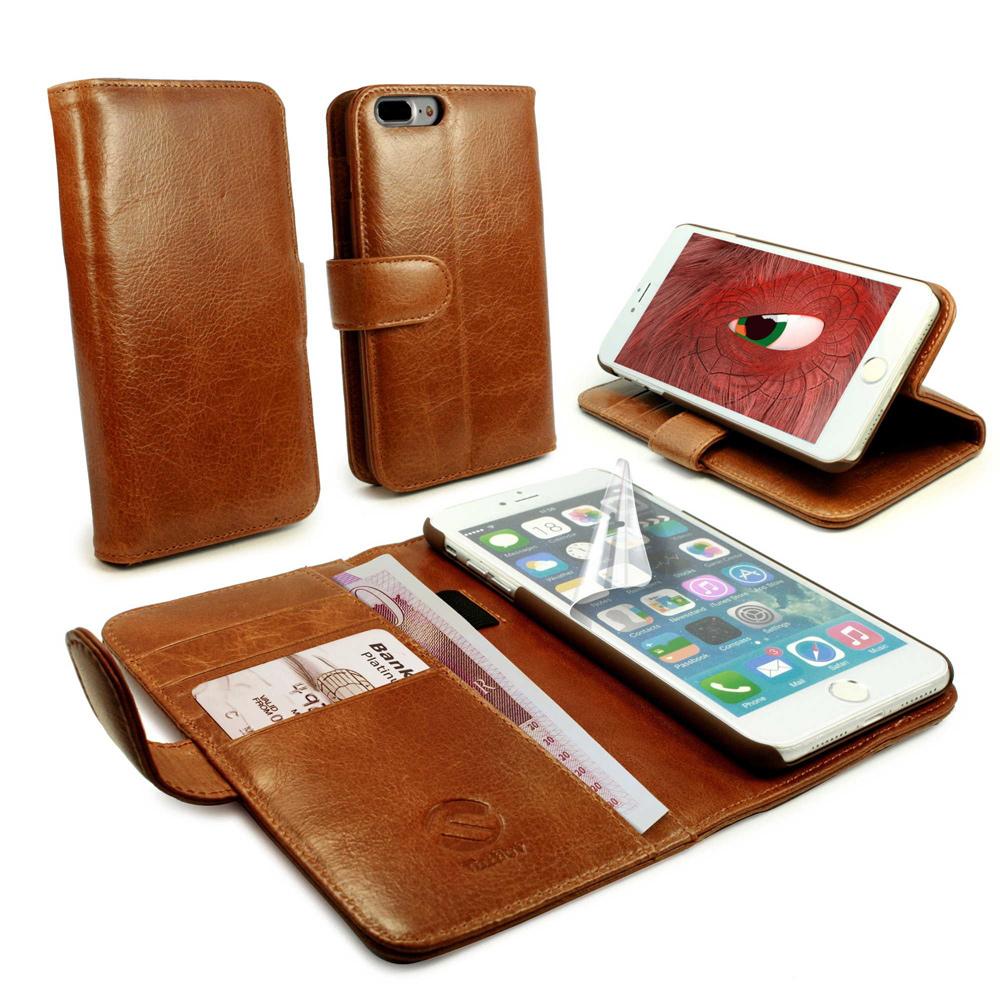 Apple iPhone 7 Plus Nahkakotelo Tuff-Luv Ruskea