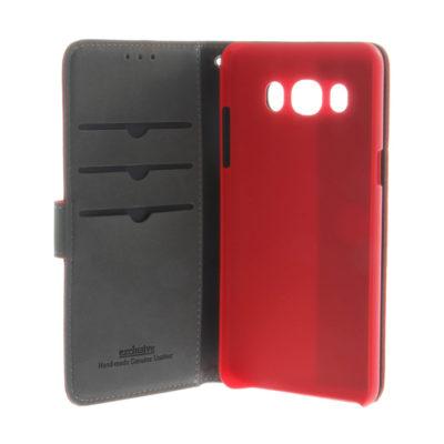 Samsung Galaxy J5 (2016) Nahkakotelo Insmat Punainen