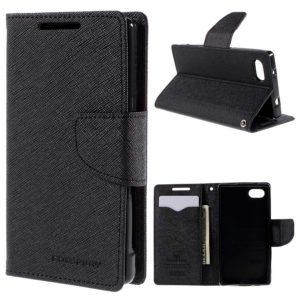 Sony Xperia Z5 Compact Kotelo Fancy Musta