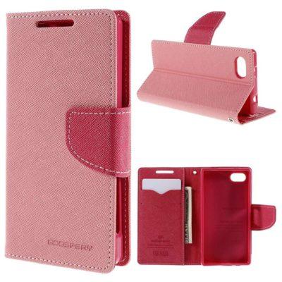 Sony Xperia Z5 Compact Kotelo Fancy Vaaleanpunainen