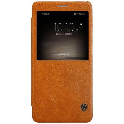 Huawei Mate 9 Suojakotelo Nillkin Qin Ruskea