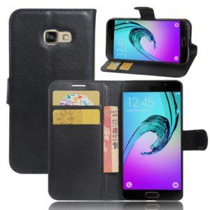 Samsung Galaxy A3 (2017) Lompakkokotelo Musta