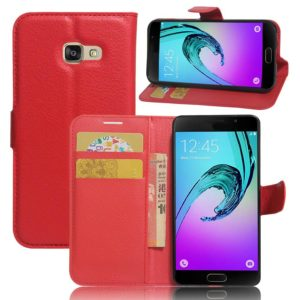 Samsung Galaxy A3 (2017) Lompakkokotelo Punainen
