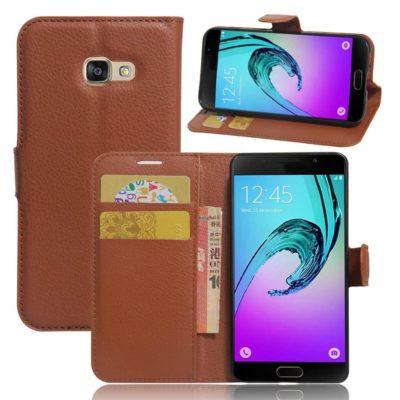 Samsung Galaxy A3 (2017) Lompakkokotelo Ruskea