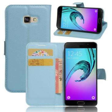 Samsung Galaxy A3 (2017) Lompakkokotelo Sininen