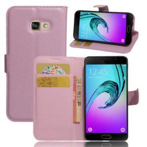 Samsung Galaxy A3 (2017) Lompakkokotelo Vaaleanpunainen
