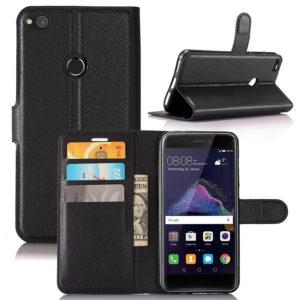 Huawei Honor 8 Lite Suojakotelo Lompakko Musta