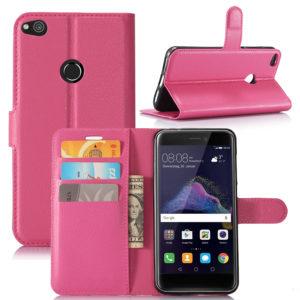 Huawei Honor 8 Lite Suojakotelo Lompakko Pinkki