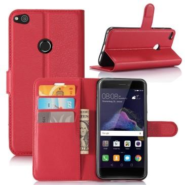 Huawei Honor 8 Lite Suojakotelo Lompakko Punainen