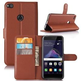 Huawei Honor 8 Lite Suojakotelo Lompakko Ruskea
