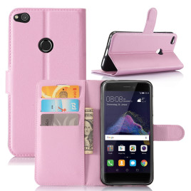 Huawei Honor 8 Lite Suojakotelo Lompakko Vaaleanpunainen