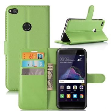 Huawei Honor 8 Lite Suojakotelo Lompakko Vihreä