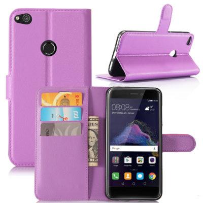Huawei Honor 8 Lite Suojakotelo Lompakko Violetti
