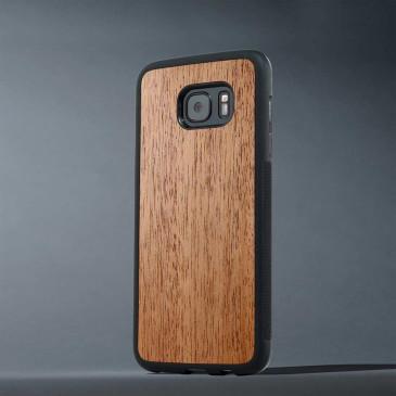 Samsung Galaxy S6 Edge Suojakuori Carved Pähkinä
