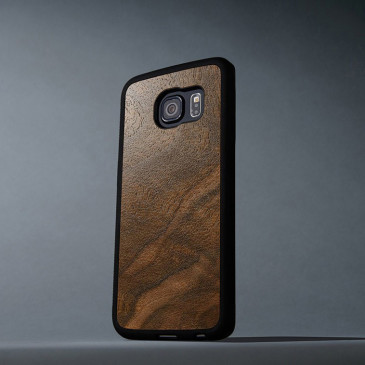 Samsung Galaxy S6 Edge Suojakuori Carved Pähkinä Pahka