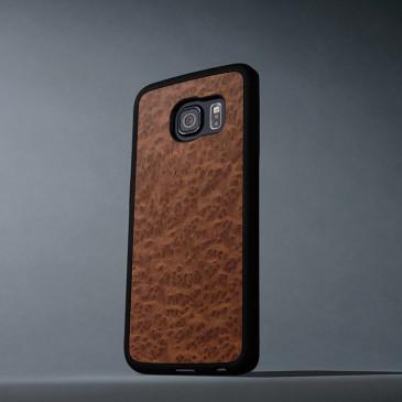 Samsung Galaxy S6 Edge Suojakuori Carved Punapuu Pahka