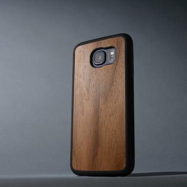 Samsung Galaxy S6 Suojakuori Carved Pähkinä