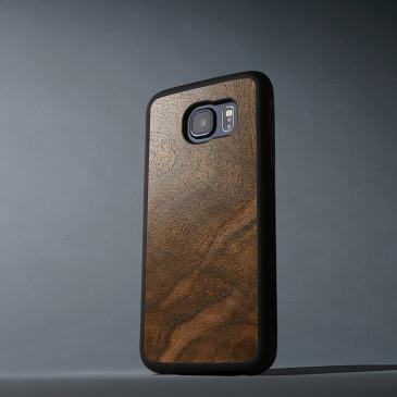 Samsung Galaxy S6 Suojakuori Carved Pähkinä Pahka