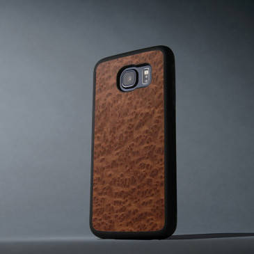 Samsung Galaxy S6 Suojakuori Carved Punapuu Pahka