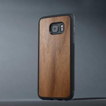 Samsung Galaxy S7 Edge Suojakuori Carved Pähkinä