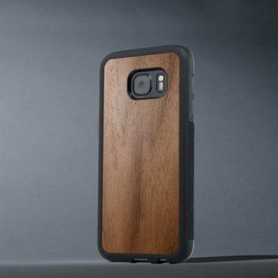 Samsung Galaxy S7 Suojakuori Carved Pähkinä