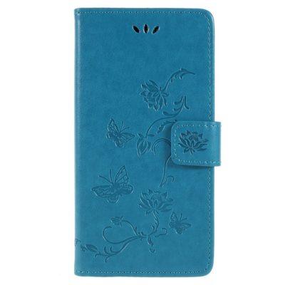 Sony Xperia XZ2 Suojakotelo Kukka Sininen
