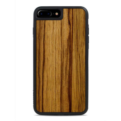 Apple iPhone 7 / 8 Puinen Suojakuori Carved Black Limba